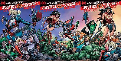Justice League vs Suicide Squad #1 NM+ BART SEARS SET OF 3 HARLEY WONDER WOMAN