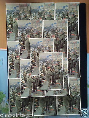15 x Military Postcard Falklands War of Prisoners frisked and moved to temp camp