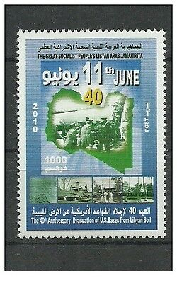 2010- Libya- The 40th Anniversary of the Evacuation of American Bases from Libya