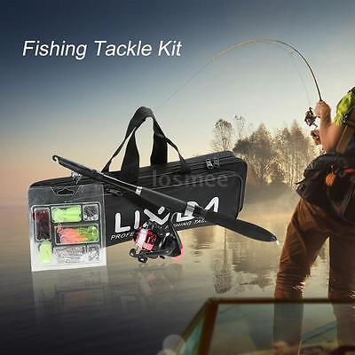 Fishing Tackle Kit Lure Rod Reel Set with 1.6m Fishing Rod Bag Fishing Bag X0L3