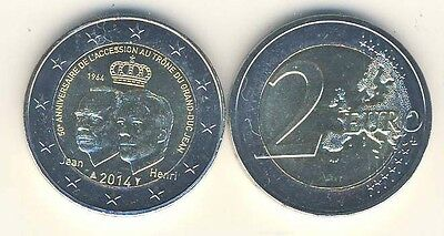 Commemorative Coin 2014 Luxembourg 50 Years Accession To The Throne Grand Duke