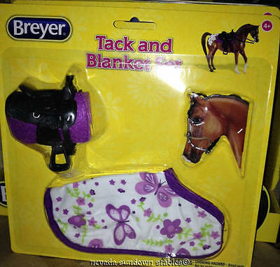 Breyer Collectable Horse Accessories Size Western Purple Tack & Blanket Set