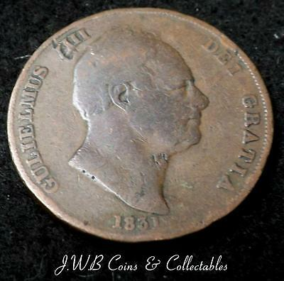 1831 William IV 1d One Penny Coin Great Britain - Ref; t/m