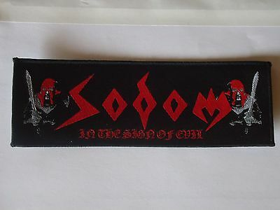Sodom In The Sign Of Evil Woven Patch