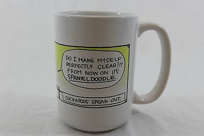 "Mug ""The breaking point"" Spaniel doodle, not Cockapoo"