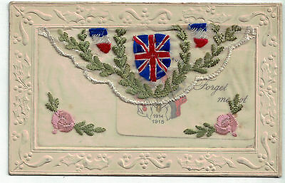 Beautiful WW1 silk postcard with insert