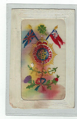 Beautiful WW1 Army Service Corp silk postcard