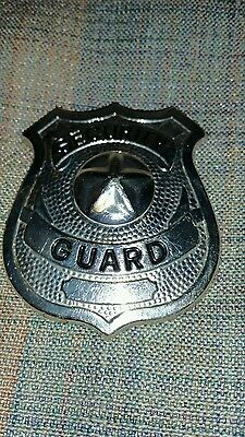 Security Guard Badge Pin Silver tone Star
