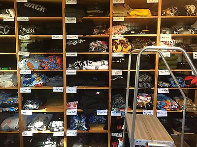 Wholesale Lot of 100 Concert, Rock Shirts, Various Bands and Sizes, New, Box #22