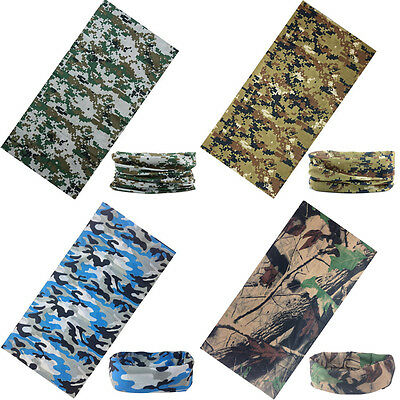 New Camo Camouflage Military Tube Scarf Durag Bandana Scarf Headbands Face Mask