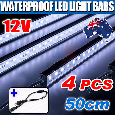 4X12V DIY Waterproof Cool White 5630 Led Strip Lights Bars Camping Boat Car