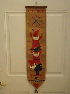 Jerry Roupe Swedish Christmas Wall Hanging Tomte Gnome Mid Century Modern EXC