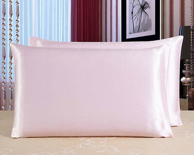 100% Mulberry SIlk Pillowcase Set 19Momme - 4 Colours - SILK APPEAL Brand New