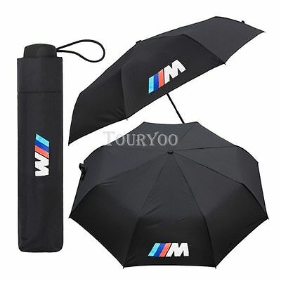 1x Car SUV Black M Power Golf Umbrella Automatic for BMW E90 E91 E92 E93 F48 F02