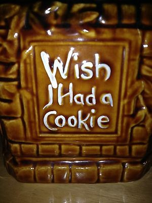 Vintage cookie jar...Wish I Had A Cookie