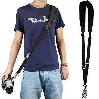 Black Quick Rapid Shoulder Sling Belt Neck Strap For Digital Camera DSLR SLR
