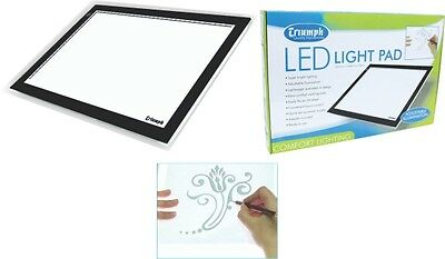 Triumph A4 LED Light Pad - Graphic Design, Pattern Tracing, Craft Hobby