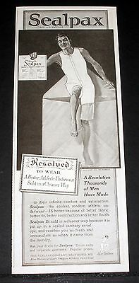 1919 Old Magazine Print Ad, Sealpax Athletic Underwear, Infinite Comfort, Men!