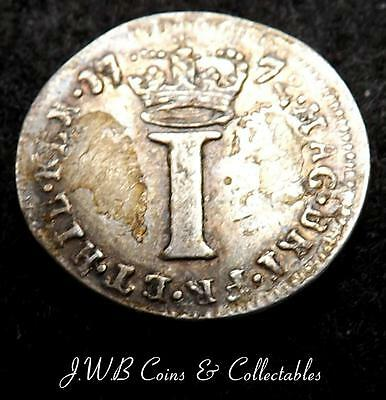 1772 George III Small Silver Maundy 1d Penny Coin  - Ref; t/m