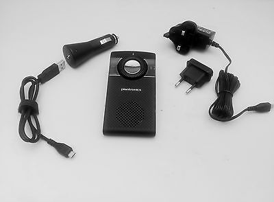 Plantronics K100 Bluetooth SpeakerPhone With FM Transmitter + Car & AC Chargers