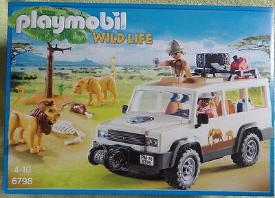 PLAYMOBIL 6798 WILD LIFE le 4x4 safari photo lion touriste zoo savane camion