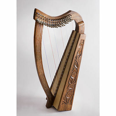 EMS Pixie Celtic Harp 19 Nylon String Rosewood Harp **NEW**