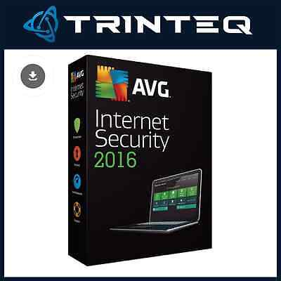 AVG Internet Security 2016 | 3 PCs / 1 Year Licence | Digital Download CD Key