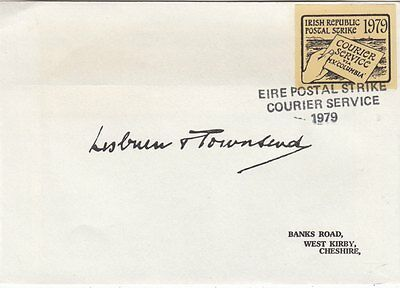 "IRISH POST STRIKE 1979 :Courier Service via MV 'Columbia"" label in bistre  cover"