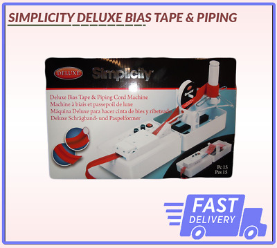 Deluxe Bias Tape & Piping Machine Simplicity Brand New Fast Delivery