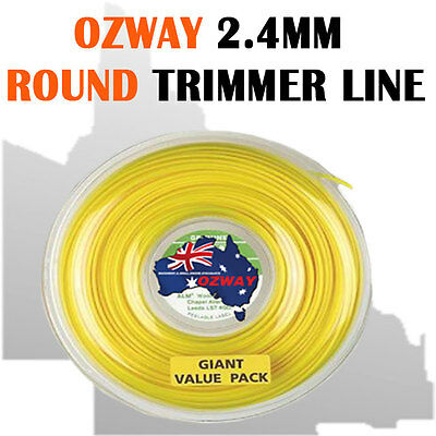 2.4Mm Trimmer Line Whipper Snipper Cord,twine,brushcutter,brush Cutter,120 Meter