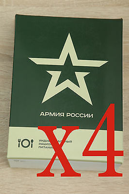 Military Russian Army Food Ration Daily Pack Mre Emergency Rations, 4 pieces