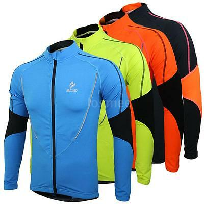 Arsuxeo Winter Warm Bike Bicycle Jacket Wear Wind Coat Long Sleeve Jersey F5V2