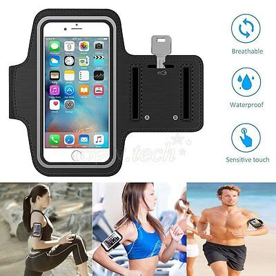 For iPhone 4 5 6 Adjustable Sports Armband Strap Gym Jogging Running Case Cover