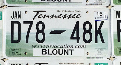 Tennessee License Plate - The Volunteer State TN Vacation - Pick a Plate
