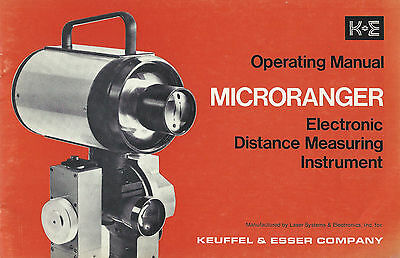 Operating Manual Keuffel & Esser MicroRanger