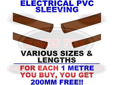 Flexible Brown PVC Cable Sleeving / Tubing - Wiring Harness All Sizes & Lengths