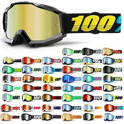 100% Prozent Accuri Goggle Brille Verspiegelt DH MTB MX Downhill Mountain Bike