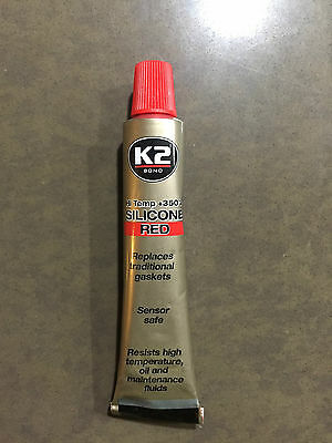 K2 BOND RED Silicone High Temperature 350°C Sealant Adhesive - 21g