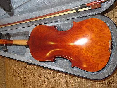 New 4/4 Violin With Beautiful Birds Eye Maple Back And Sides