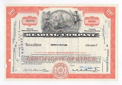 Reading Company Stock Certificate