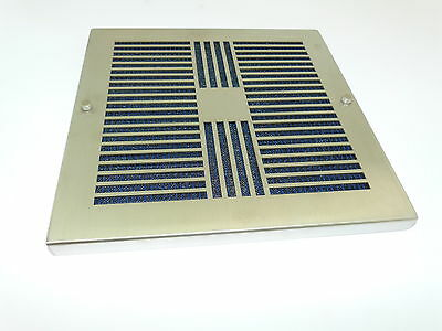 "Isc Stainless Steel Filtered Vent Cover 9 7/8"" X 9 7/8"" Iscsffp200 New"
