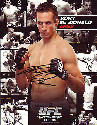 Rory MacDonald Autographed Signed 8X11 inches UFC MMA Fighter Photo Card