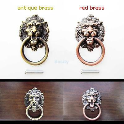 Vintage Lion Head Design Pull Handle Door Cabinet Dresser Drawer Knob 2 Colors