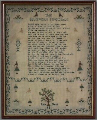 Antique Sampler, 1798, by Ann Neat