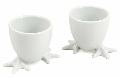 BIA Cordon Bleu White Porcelain 2 inch Chicken Foot Egg Cup - Set of 4