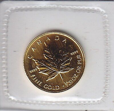 Canada 1998 1/20th Oz .9999 Gold Canadian Maple Leaf - Royal Canadian Mint