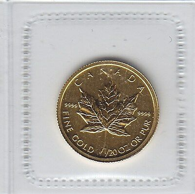 Canada 2011 - 1/20th Oz .9999 Gold Canadian Maple Leaf - Royal Canadian Mint