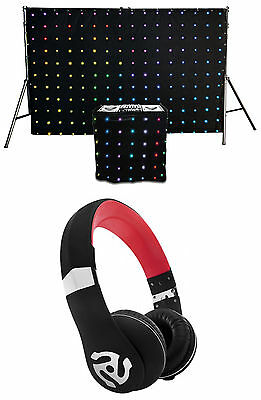 Chauvet DJ MotionSet LED Backdrop/Facade Motiondrape/MotionFacade+DJ Headphones