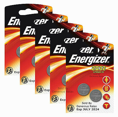 40 20 10 2 Energizer CR2032 BR2032 SB T15 Lithium 3V Cell Coin Button Batteries