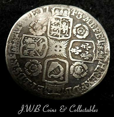 1743 George II Silver Sixpence Coin - Ref; t/m